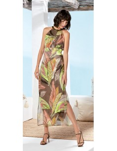 VESTIDO ESTAMPADO TROPICAL...